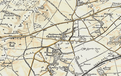 Old map of Cholderton in 1897-1899