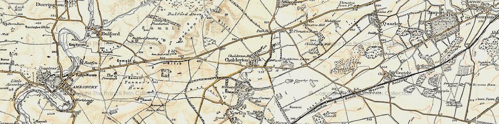 Old map of Wilbury Ho in 1897-1899
