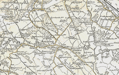 Old map of Cholesbury in 1898