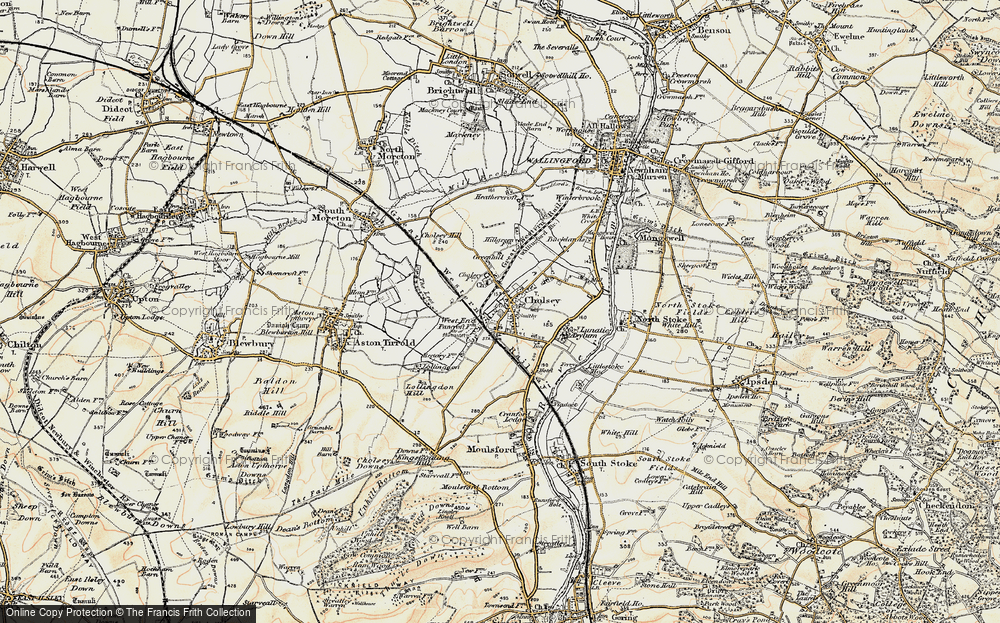 Old Map of Cholsey, 1897-1898 in 1897-1898