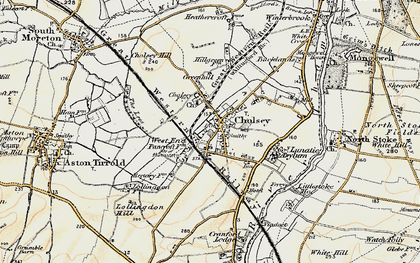 Old map of Cholsey in 1897-1898