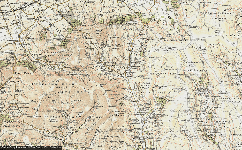 Old Map of Historic Map covering Barker's Crags in 1903-1904