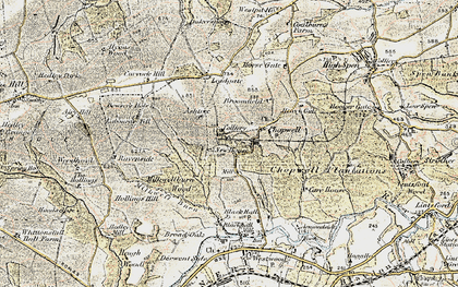 Old map of Ashtree in 1901-1904