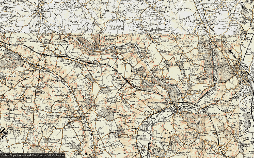 Old Map of Chorleywood, 1897-1898 in 1897-1898