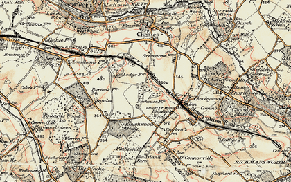 Old map of Chorleywood West in 1897-1898