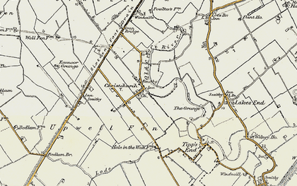 Old map of Christchurch in 1901-1902