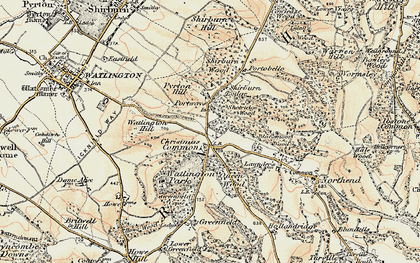 Old map of White Mark in 1897-1898