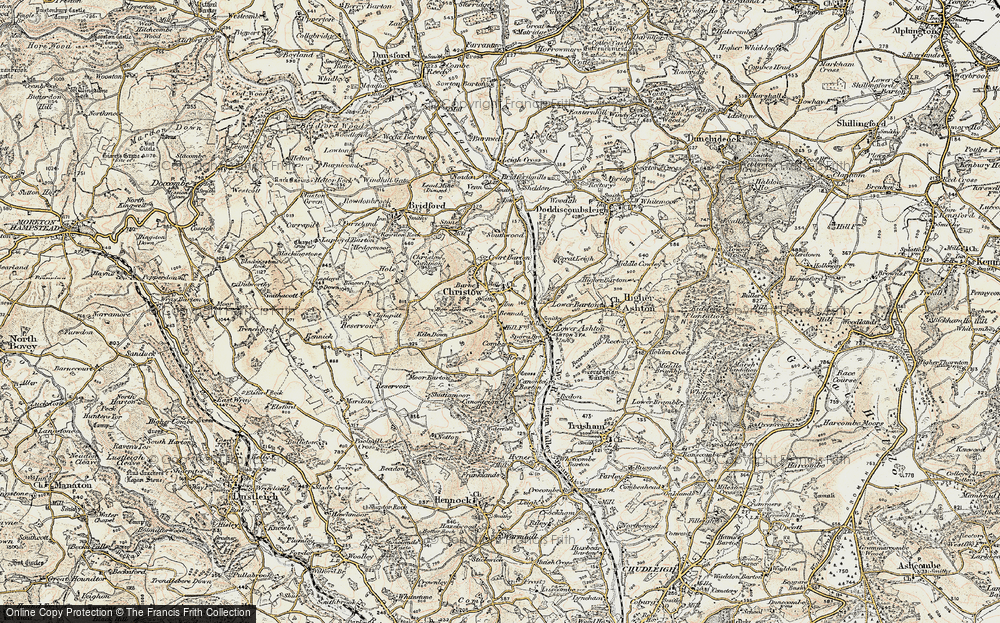 Old Map of Christow, 1899-1900 in 1899-1900