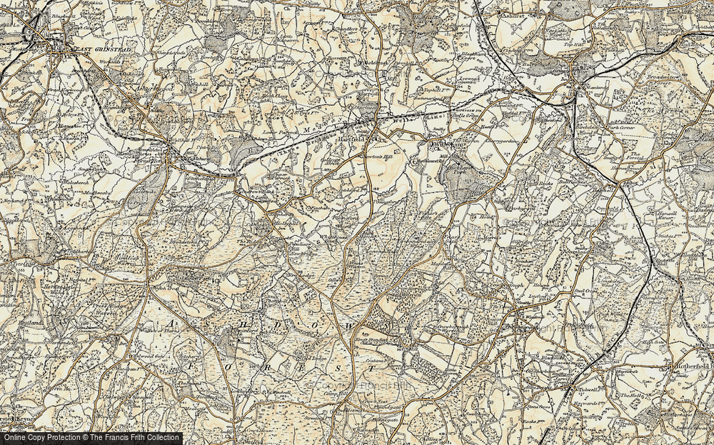 Old Map of Chuck Hatch, 1898 in 1898
