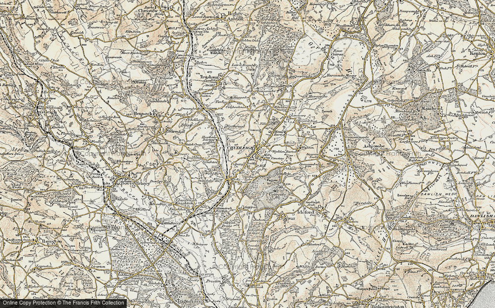 Old Map of Historic Map covering Lawell Ho in 1899-1900