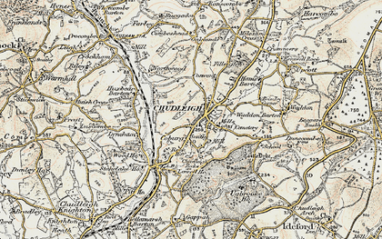Old map of Chudleigh in 1899-1900