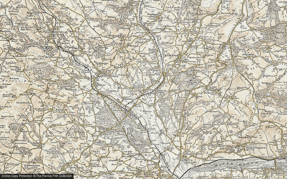 Old Map of Chudleigh Knighton, 1899-1900 in 1899-1900