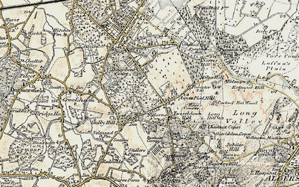 Old map of Aunt's Pool Hill in 1898-1909