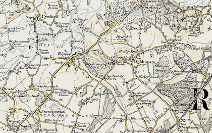 Old map of Church End in 1897-1909