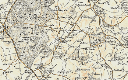 Old map of Witts End in 1898-1899