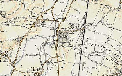 Old map of Church End in 1898-1901