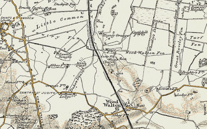 Old map of Wheatley's Drain in 1901