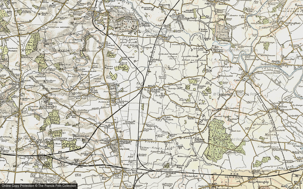Old Map of Church Fenton, 1903 in 1903