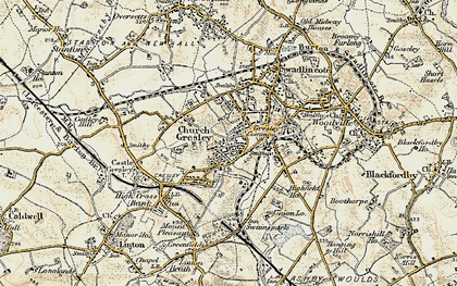 Old map of Church Gresley in 1902