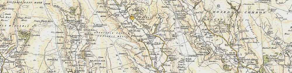 Old map of Woodstock Bower in 1903-1904