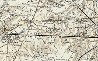 Old map of Avon Ho in 1901-1902