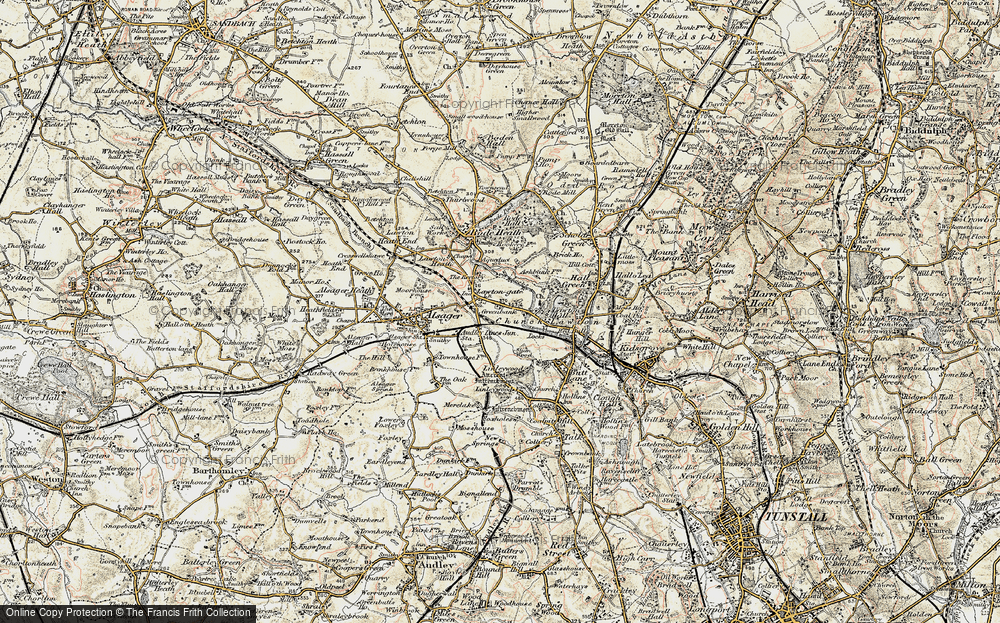 Old Map of Church Lawton, 1902-1903 in 1902-1903
