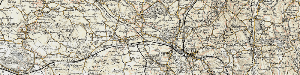 Old map of Church Lawton in 1902-1903