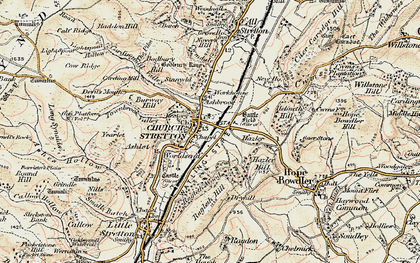 Old map of Church Stretton in 1902-1903