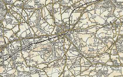 Old map of Church Town in 1900