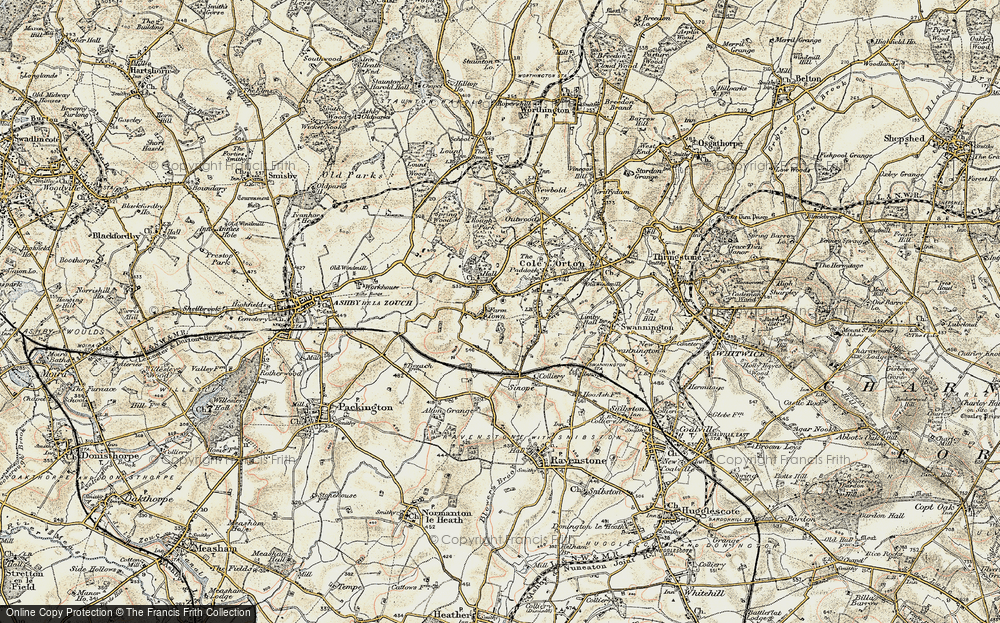 Old Map of Historic Map covering Alton Hill in 1902-1903