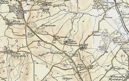 Old map of Church Westcote in 1898-1899