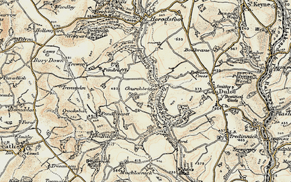 Old map of Churchbridge in 1900
