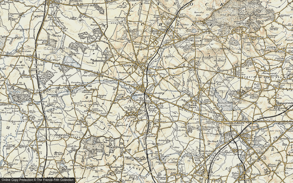 Old Map of Churchbridge, 1902 in 1902