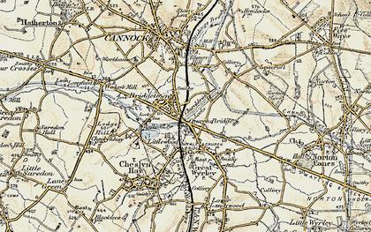 Old map of Churchbridge in 1902