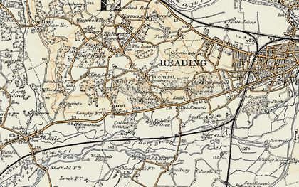 Old map of Churchend in 1897-1900