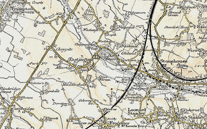 Old map of Churchend in 1898-1900