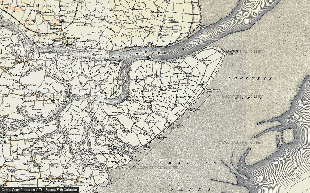 Old Map of Historic Map covering Asplins Head in 1898