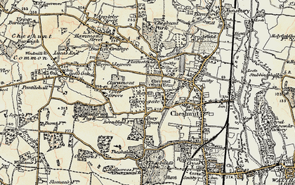Old map of Churchgate in 1897-1898