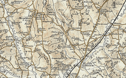 Old map of Churchill in 1898-1899