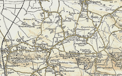 Old map of Churchill in 1899-1900