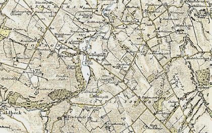 Old map of Lime Kiln Nook in 1901-1904