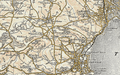 Old map of Westerland in 1899