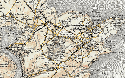 Old map of Churston Ferrers in 1899