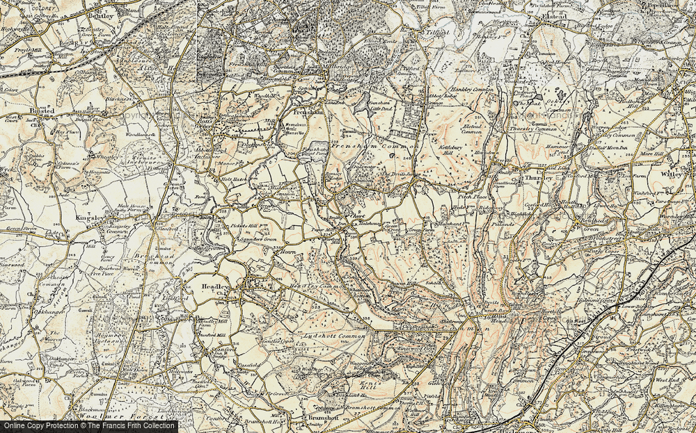 Old Map of Churt, 1897-1909 in 1897-1909