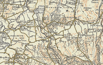 Old map of Churt in 1897-1909
