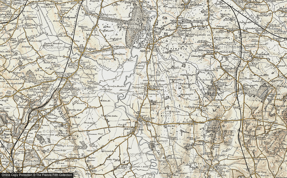 Old Map of Historic Map covering Almere in 1902-1903