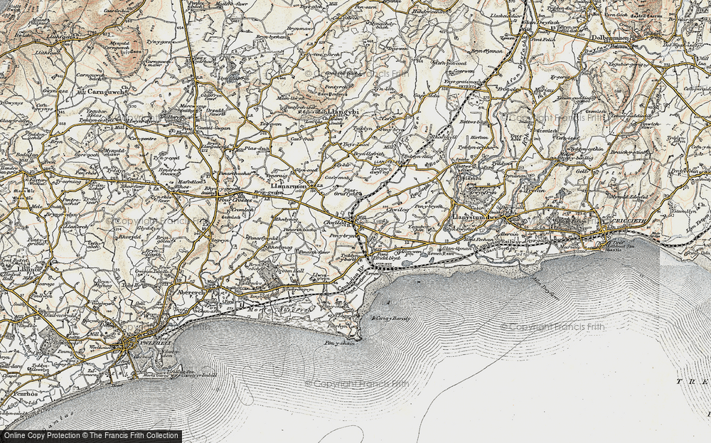 Old Map of Chwilog, 1903 in 1903