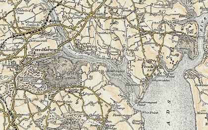 Old map of Chycoose in 1900