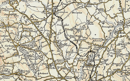 Old map of Chynhale in 1900