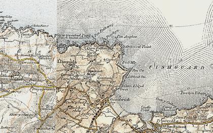 Old map of Y Penrhyn in 1901-1912
